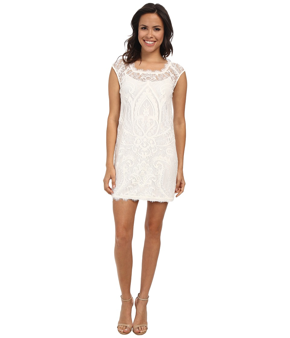 Nicole Miller - Abby Placement Lace Dress (White) Women's Dress
