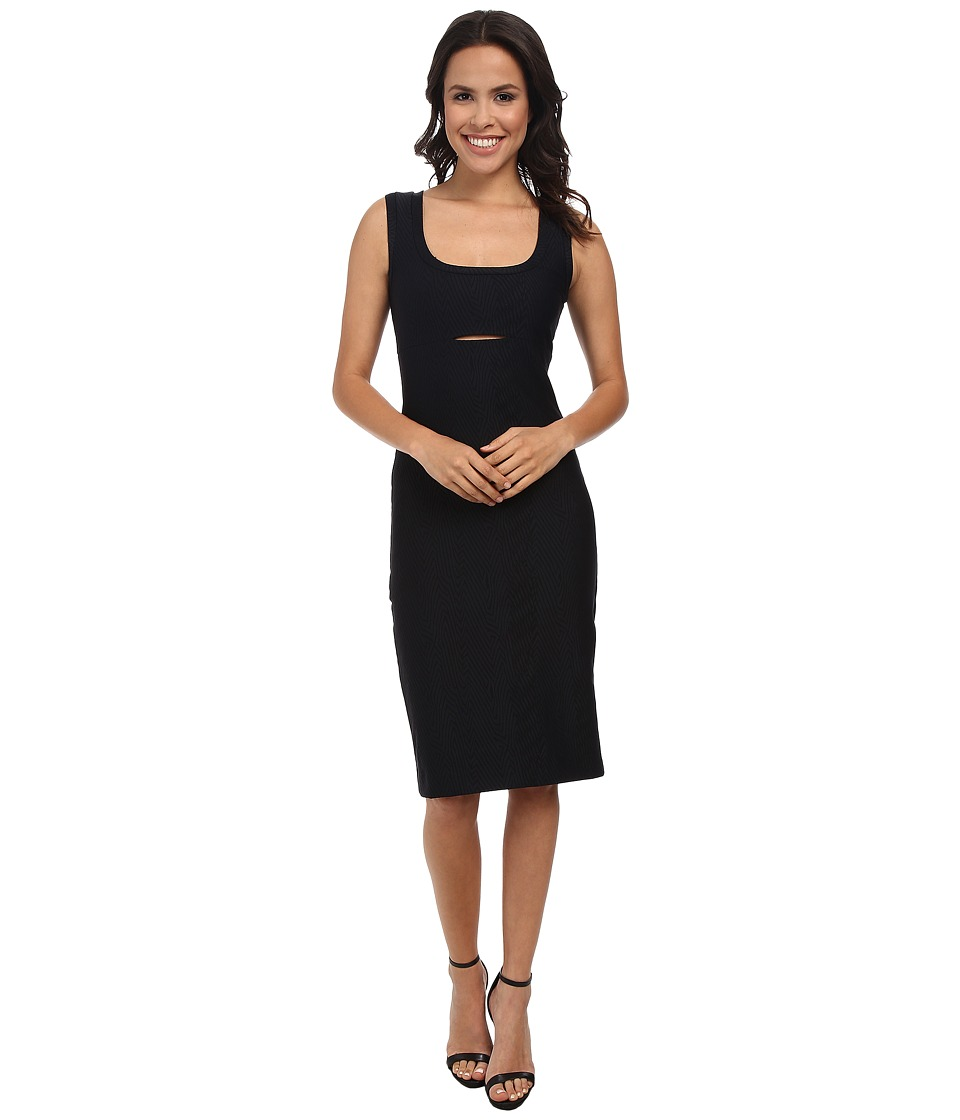 Nicole Miller Bandage Tank Dress w/ Keyhole (Black) Women