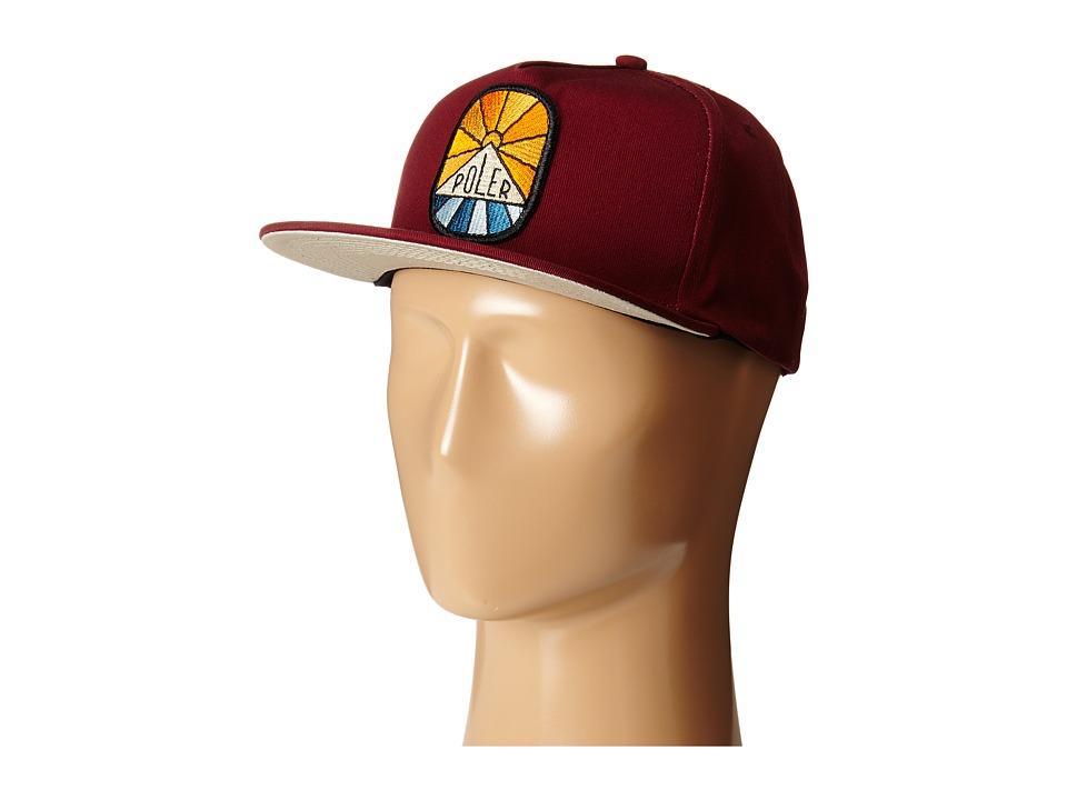 Poler - Sunny Dayz Snapback Hat (Burgundy) Caps