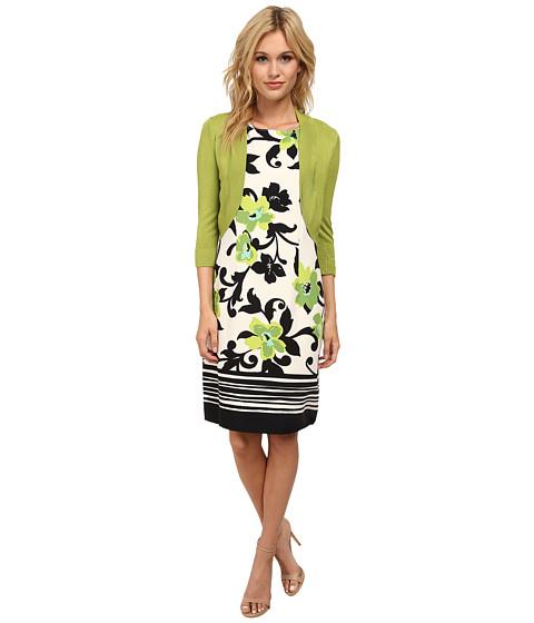Jessica Howard - Sleeveless Shift Dress w/ Banded Hem (Green) Women