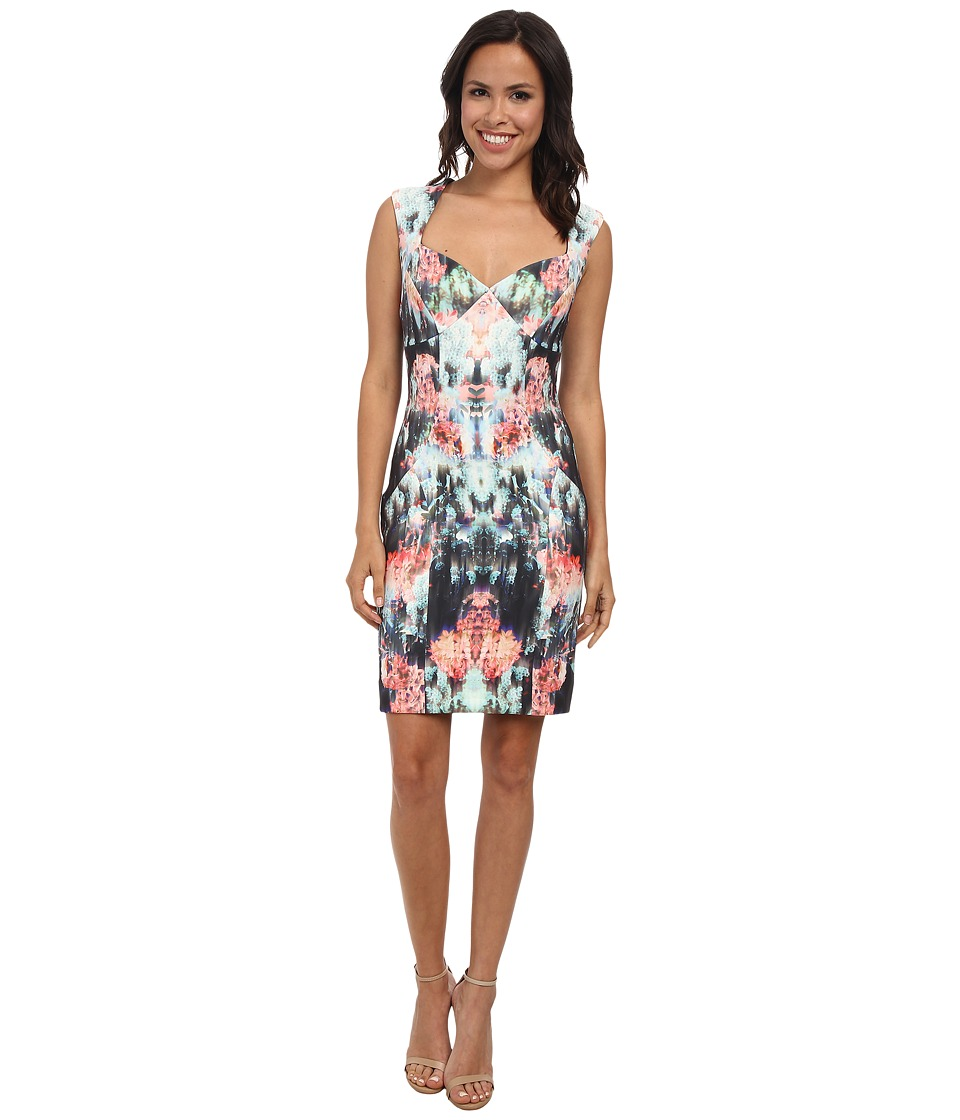 Nicole Miller Canopy Neoprene Sweetheart Sheath Dress (Multi) Women