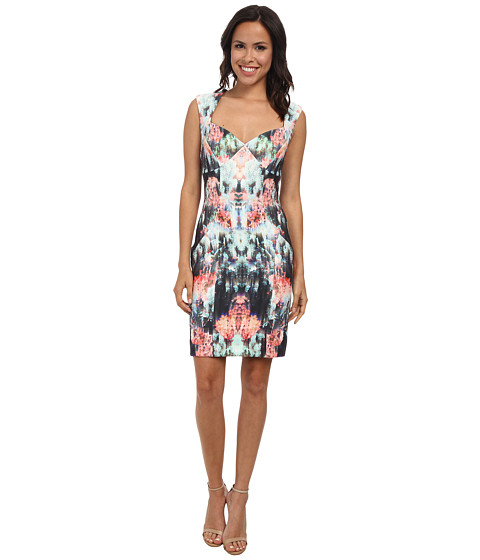 Nicole Miller - Canopy Neoprene Sweetheart Sheath Dress (Multi) Women's Dress