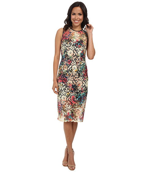 Nicole Miller - Lace Fantasia Net Sleeveless Dress (Multi) Women's Dress