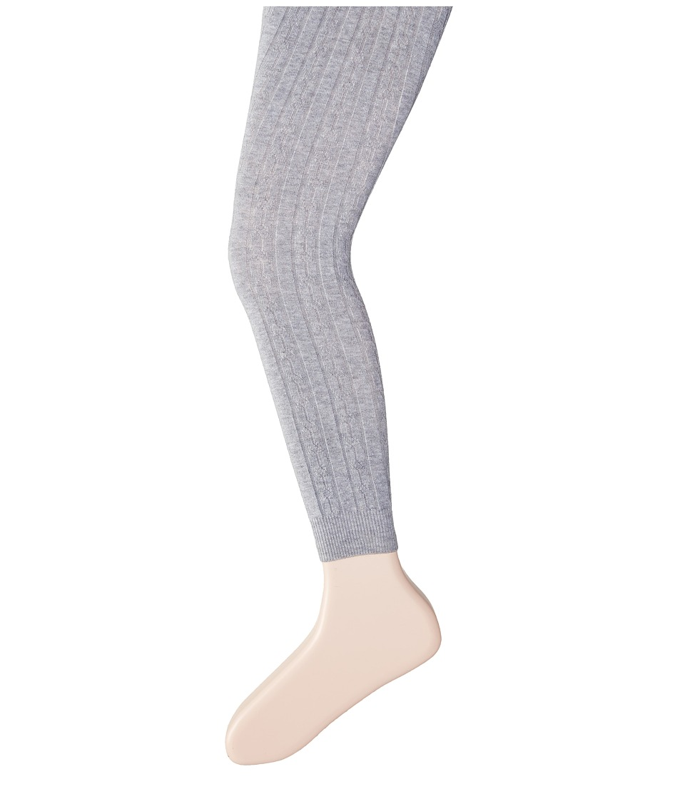 Hatley Kids - Cable Knit Tights (Toddler/Little Kids/Big Kids) (Grey) Girl's Casual Pants