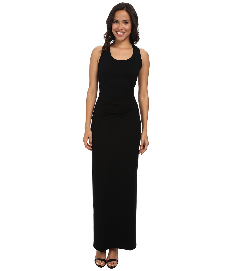 Nicole Miller DeQuinn Jersey Maxi Dress (Black) Women