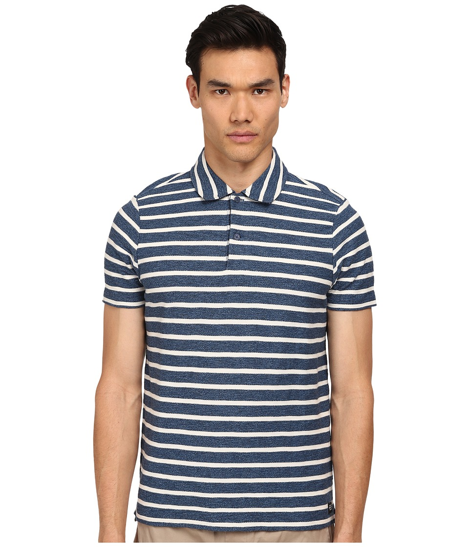 Jack Spade - Beale Stripe Polo (Blue Stripe) Men's Clothing