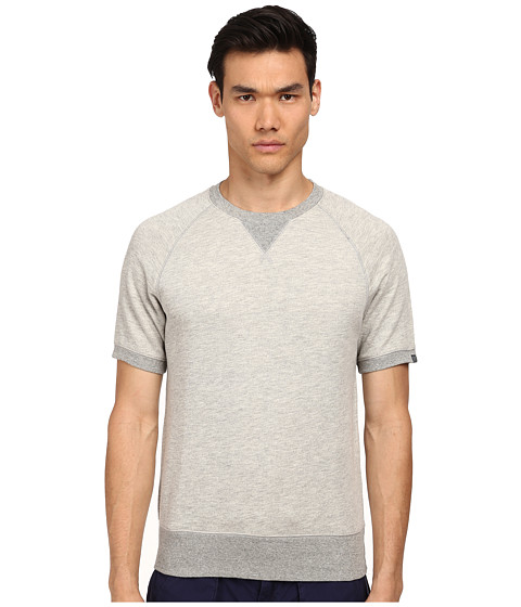 Jack Spade - Herrity Short Sleeve Sweatshirt (Light Grey) Men