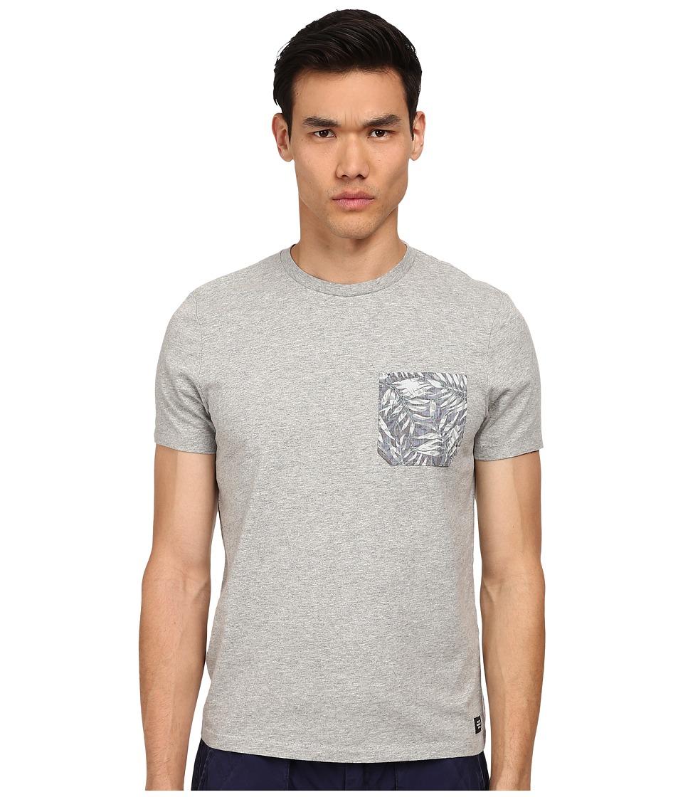 Jack Spade - Tropical Pocket T-Shirt (Cement Heather Grey) Men