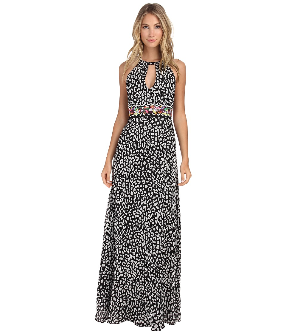 Nicole Miller - Wild One Fruit Stripe Gown (Black/White) Women's Dress