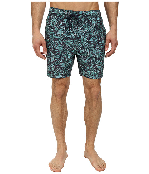 Jack Spade - Leaf Print Swim Trunks (Navy) Men's Swimwear