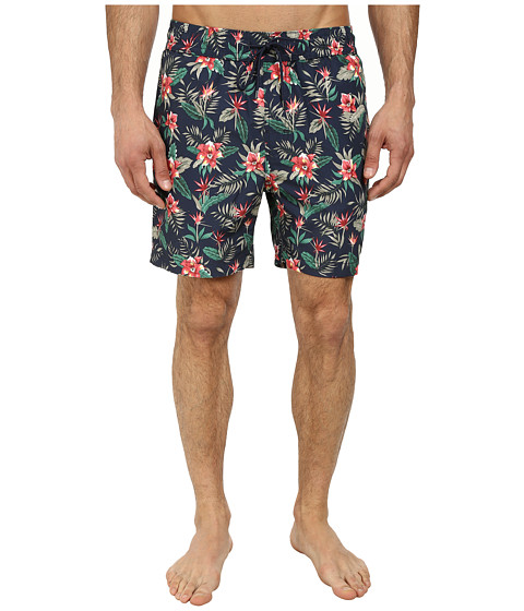 Jack Spade - Floral Swim Trunks (Navy) Men's Swimwear