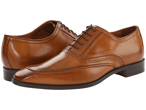 Massimo Matteo - 5-Eye Plain Mocc Toe (Brandy) Men