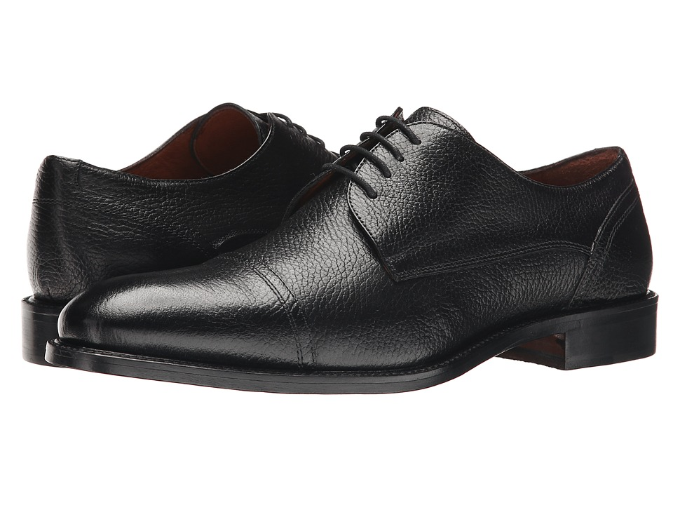 Massimo Matteo - 4-Eye Cap Toe (Black 2) Men