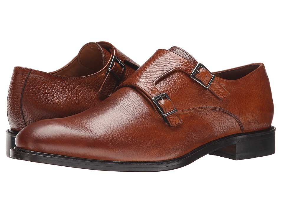 Massimo Matteo - Double Monk (Tan) Men's Monkstrap Shoes