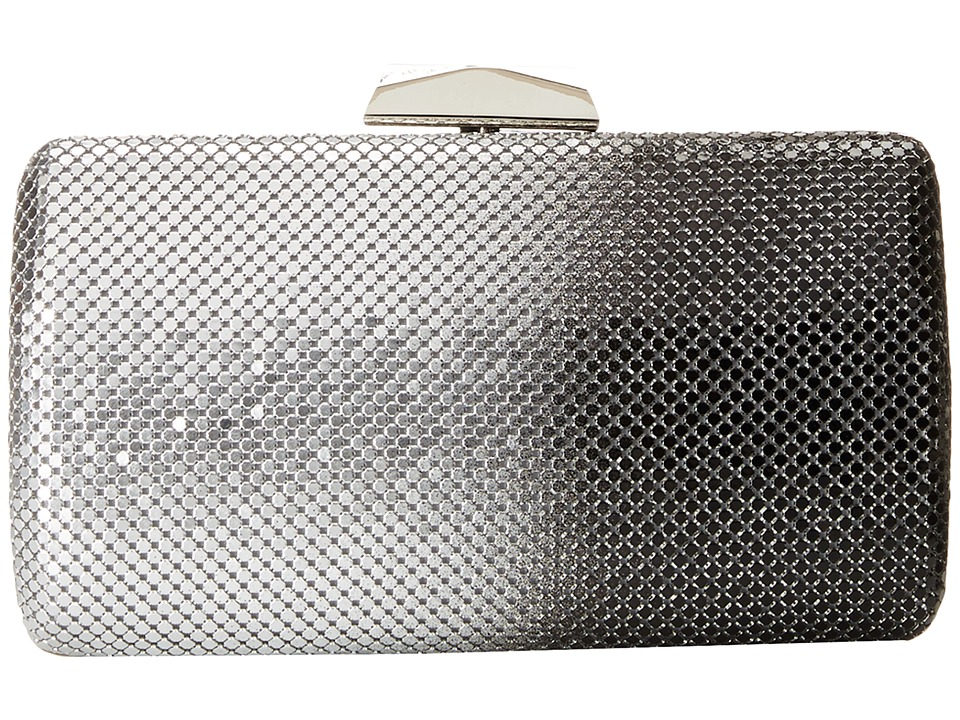 Jessica McClintock - Ombre Mesh Minaudier (Black/Silver) Handbags