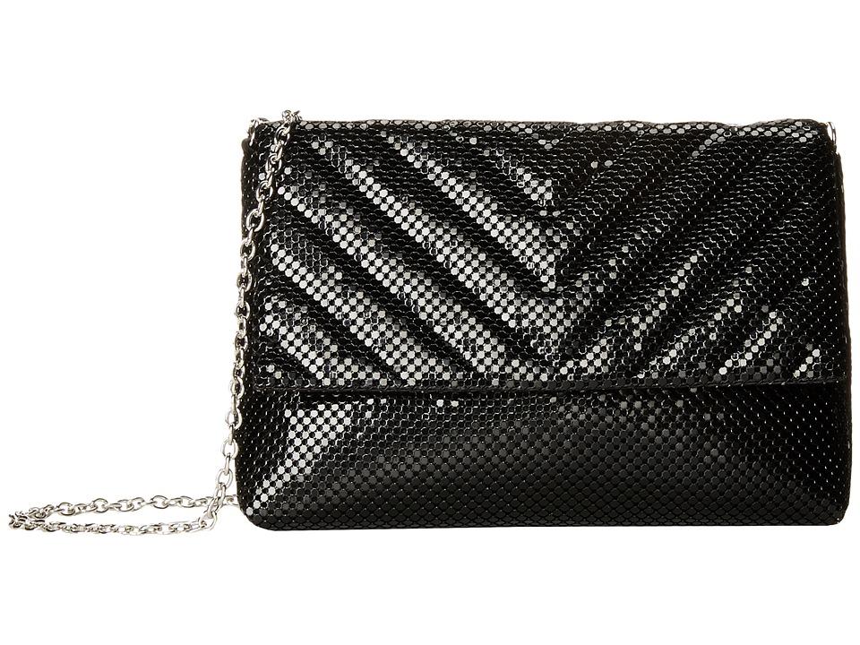 Jessica McClintock - V Quilt Minibag (Black) Handbags