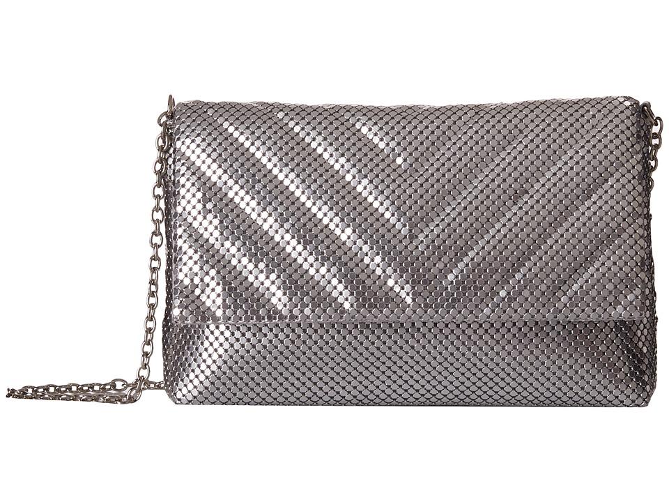 Jessica McClintock - V Quilt Minibag (Silver) Handbags