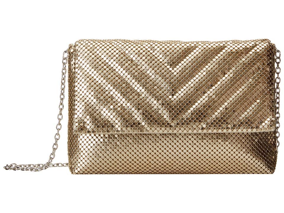 Jessica McClintock - V Quilt Minibag (Light Gold) Handbags