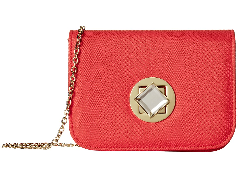 Jessica McClintock - Hiss Diamond Crossbody (Coral) Cross Body Handbags