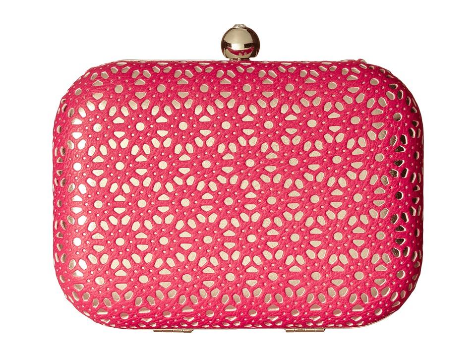 Jessica McClintock - Perforated Minaudier (Pink) Handbags