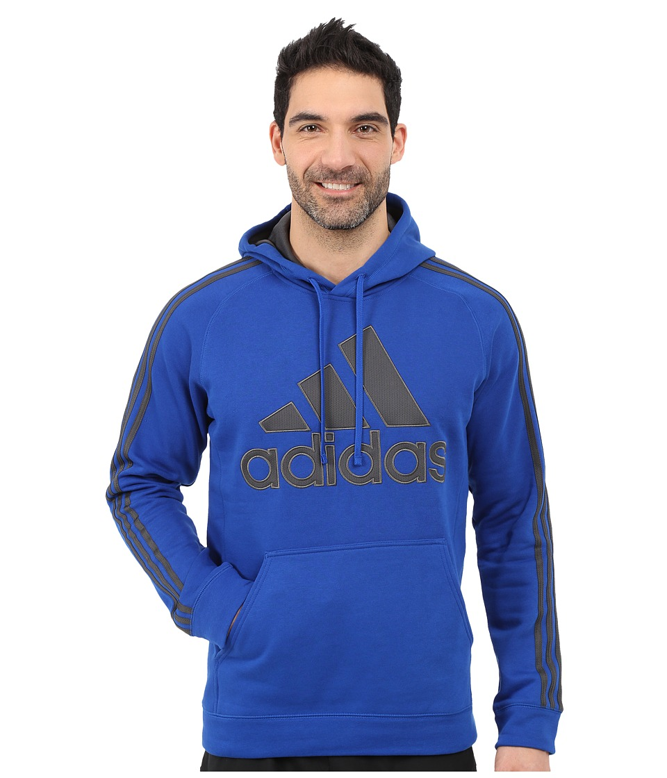 adidas - Essential Cotton Pullover Hoodie (Collegiate Royal/Dark Grey Heather/Solid Grey) Men's Sweatshirt