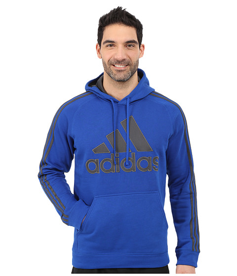 adidas - Essential Cotton Pullover Hoodie (Collegiate Royal/Dark Grey Heather/Solid Grey) Men