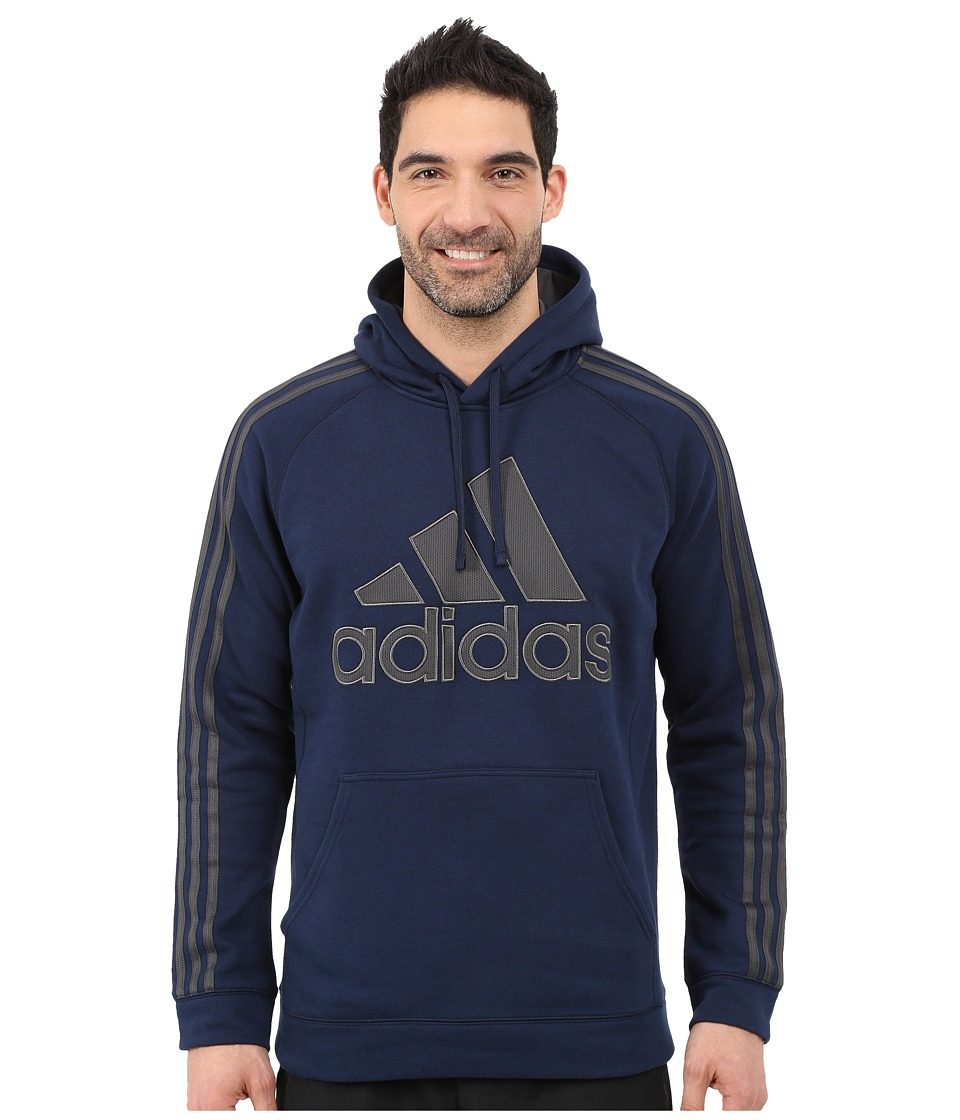 adidas - Essential Cotton Pullover Hoodie (Collegiate Navy/Dark Grey Heather/Solid Grey) Men