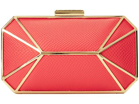 Jessica McClintock - Hiss Cage Minaudier (Coral) Handbags