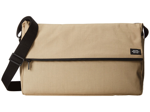 Jack Spade - Fold Top Messenger Bag (Khaki/Black) Briefcase Bags