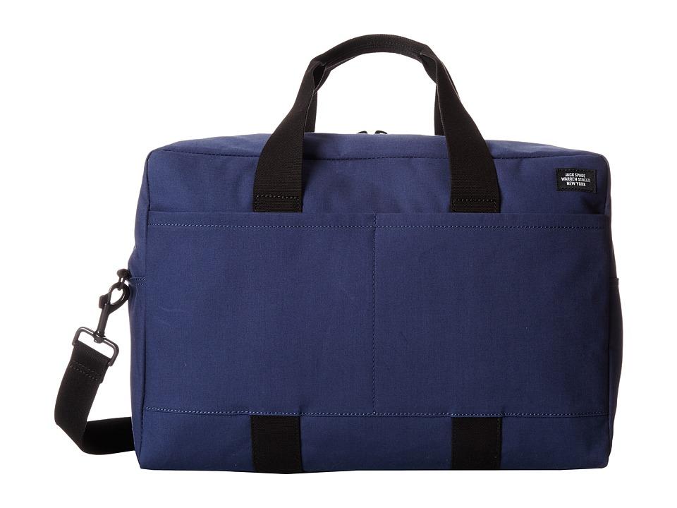 Jack Spade - Bonded Cotton Duffle Bag (Navy/Tank) Duffel Bags