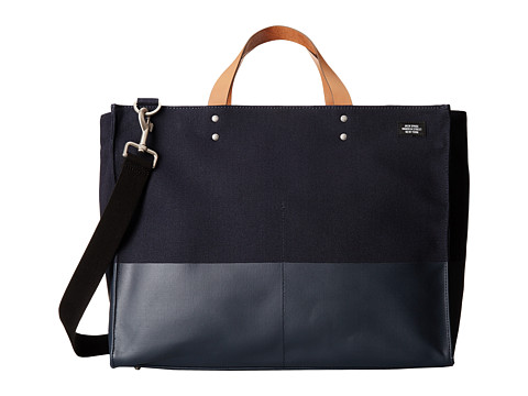Jack Spade - Dipped Canvas Large Square Duffle (Navy) Duffel Bags