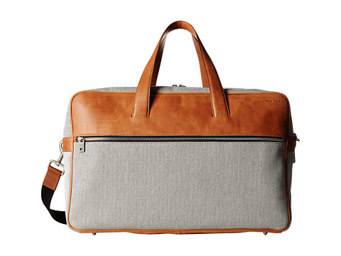 Jack Spade - Oxford Leather Fairbanks Duffle (Grey) Duffel Bags
