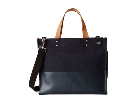 Jack Spade - Dipped Canvas Small Square Tote (Navy) Tote Handbags