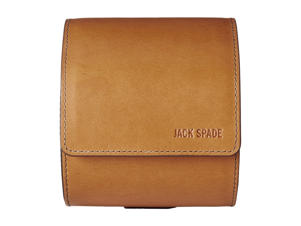 Jack Spade - Mitchell Leather Tie Canister (Saddle/Navy) Bags