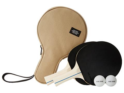 Jack Spade - Bonded Cotton Ping Pong Case (Khaki/Black) Bags
