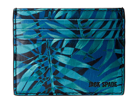 Jack Spade - Palm Print 6 Card Holder (Palm Print) Credit card Wallet