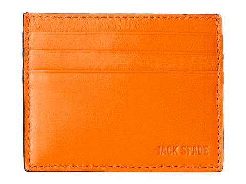 Jack Spade - Grant Leather 6 Card Holder (Orange) Credit card Wallet