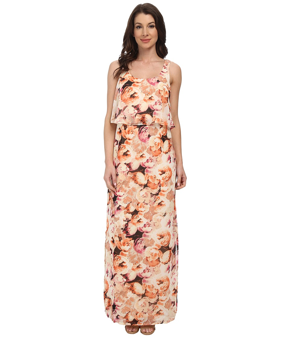 Jessica Howard - Sleeveless Popover Maxi Dress (Ivory/Blush) Women's Dress