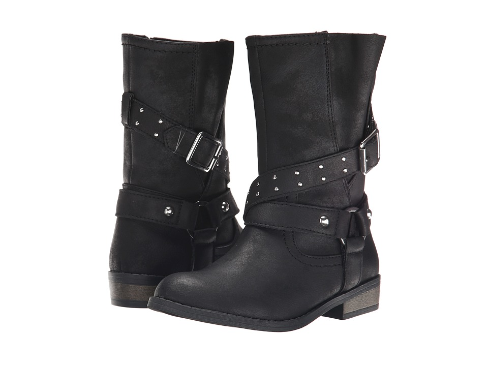 Jessica Simpson Kids - Callie (Little Kid/Big Kid) (Black Burnished) Girls Shoes