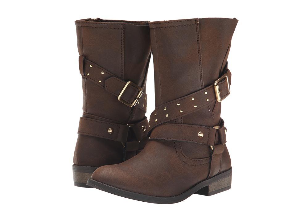 Jessica Simpson Kids - Callie (Little Kid/Big Kid) (Brown Burnished) Girls Shoes