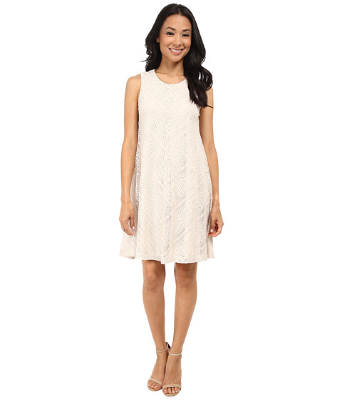 Jessica Howard - Sleeveless Meitered Trap Dress (Natural) Women