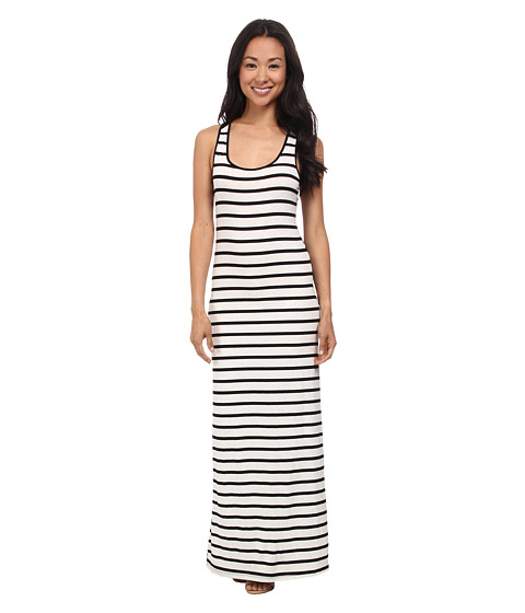 Gabriella Rocha - Cori Striped Tank Dress (Black/Beige) Women