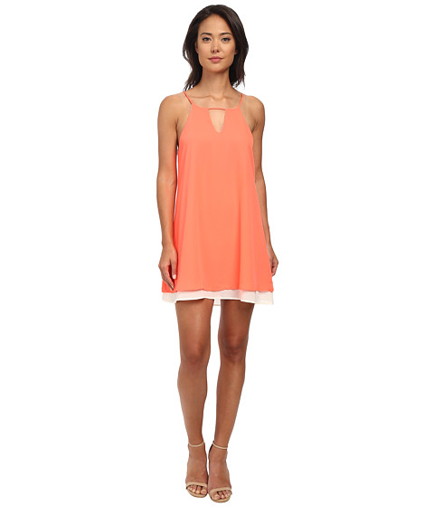 Gabriella Rocha - Juliet Layered Dress (Neon Coral) Women