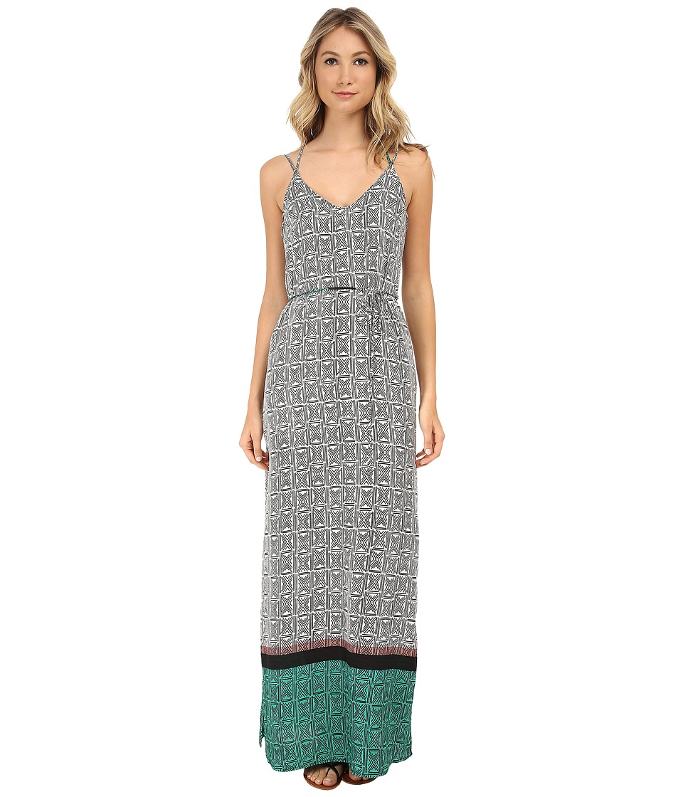 Gabriella Rocha - Sharon Border Print Maxi Dress (Green/Black) Women