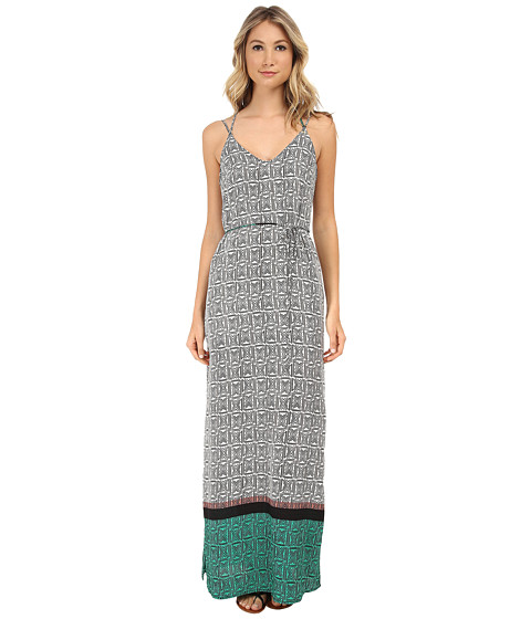 Gabriella Rocha - Sharon Border Print Maxi Dress (Green/Black) Women's Dress