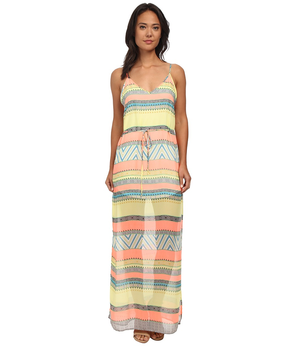 Gabriella Rocha - Eileen Chiffon Maxi Dress (Neon Coral) Women's Dress