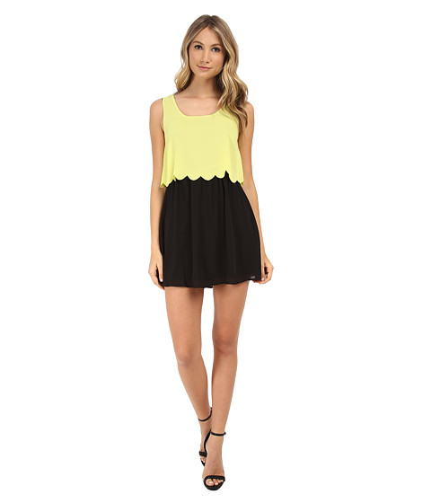 Gabriella Rocha - Layered Dress (Neon Yellow) Women