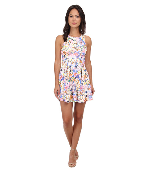 Gabriella Rocha - Mia Floral Print Sleeveless Dress (Blue Multi) Women's Dress