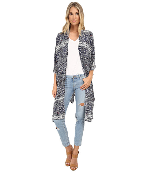 Gabriella Rocha - Edith Print Kimono (Blue Multi) Women's Sweater