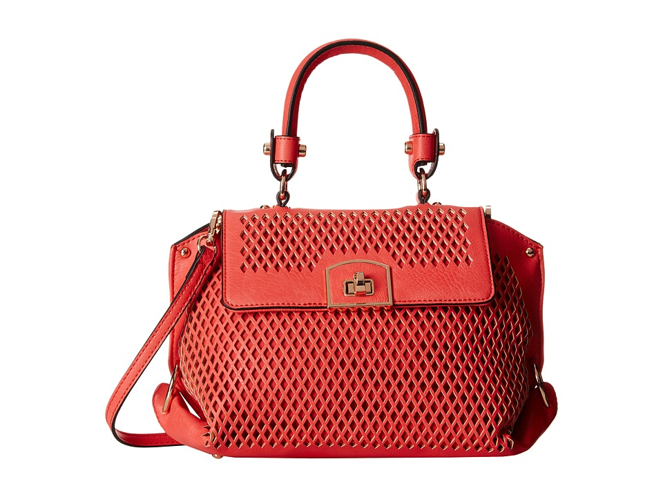 Gabriella Rocha - Lenore Perforated Purse (Coral) Handbags
